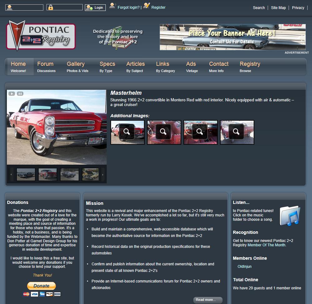 Pontiac 2+2 Registry
